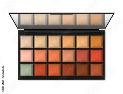 Stampa su Tela Large make-up palette container isolated on white background, realistic illustration