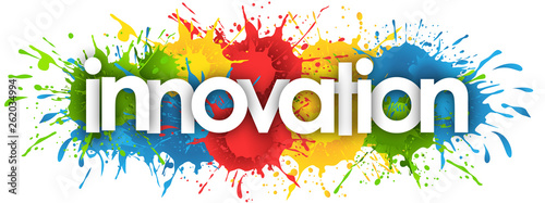 Canvastavla  innovation word in splash's background