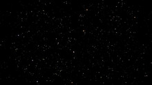 Night Starry Skies With Twinkling And Blinking Stars. Abstract Dark 3D Illustration With Glowing Stars Or Particles. Space Science Background Of Black Sky In Starry Night In UHD 4K