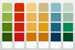 Color palette guide isolated on white.