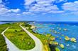 canvas print picture 宮古島。東平安名崎灯台から見た風景