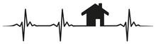Home House Heartbeat #isoliert #vektor - Zuhause Haus Herzschlag