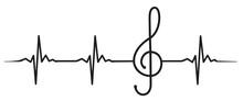 Clef Heartbeat #isoliert #vektor - Notenschlüssel Herzschlag