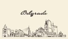 Belgrade Skyline Serbia Hand D...