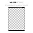 Screen mockup. Tablet with blank screen for design