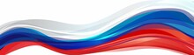 Flag Of Russia, Russian Federation. Bright Template For Festive Decoration.