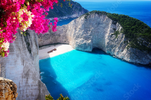 Beautiful lanscape of Zakinthos island Wallpaper Mural