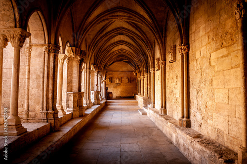 Inside abbey Canvas Print