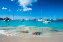Caribbean, Lesser Antilles, Saint Barthelemy, Gustavia, Luxury Yachts