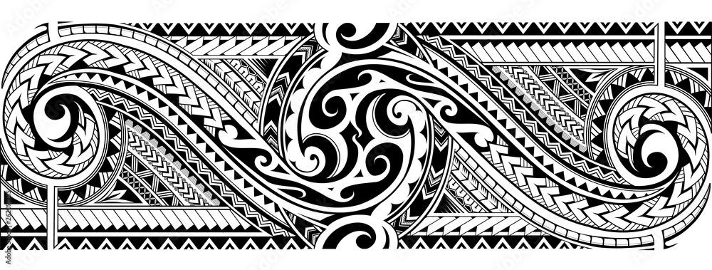Fototapeta Tribal tattoo sleeve