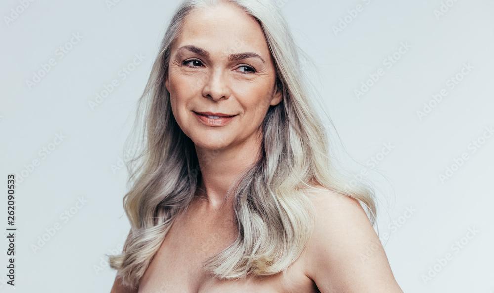 Fototapety, obrazy: Beautiful senior woman contemplating