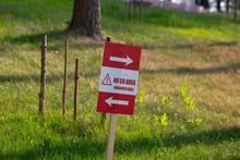 No Trespassing Sign Outdoors. ...