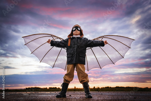 Canvas Print Child dreams of flying