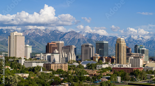 Salt Lake City Profile Fotobehang