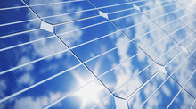 3D Illustration Solar Panels C...