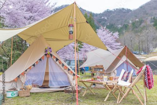 Obraz キャンプ - fototapety do salonu