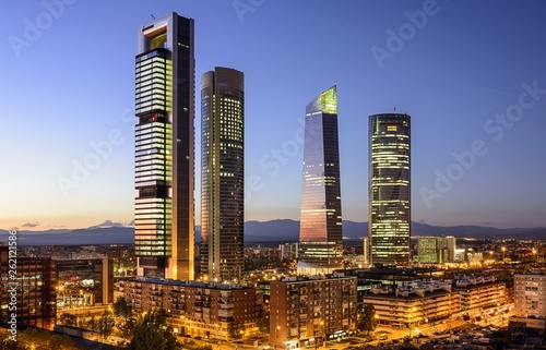 Staande foto Madrid Madrid, Spain Financial District