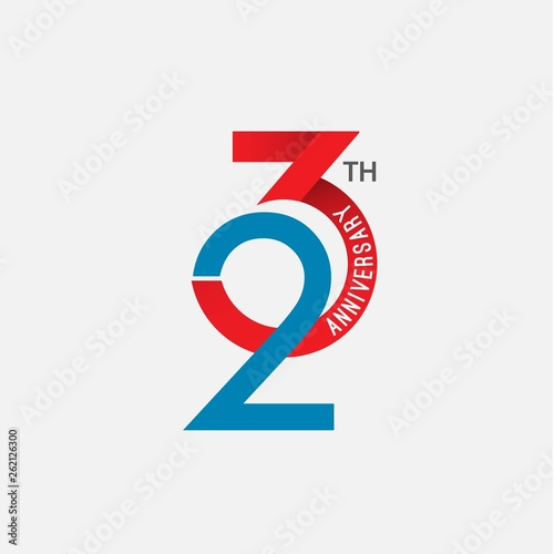 Papel de parede  23 th Anniversary Vector Template Design Illustration