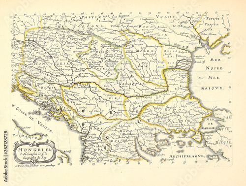 Old map Tablou Canvas