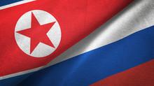 North Korea And Russia Two Fla...