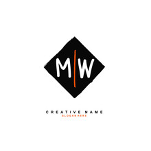 M W MW Initial Logo Template Vector