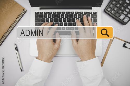 Valokuvatapetti Admin Concept For Business