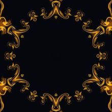 Liquid Gold Effect Oil Painting Artwork. Creative Luxury Design. Golden Colors Pattern Background.