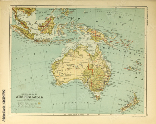 Recess Fitting World Map Atlas of commercial geography