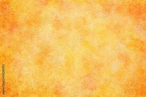 水彩 テクスチャ 春 オレンジ 背景 - fototapety na wymiar