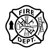 Fire Department Emblem St Flor...