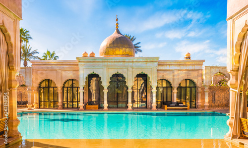 Photo sur Aluminium Maroc Namaskar palace, luxury hotel and spa of Marrakech, Morocco