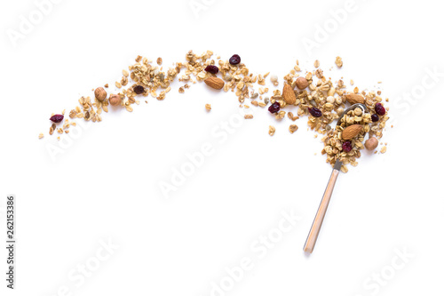 Leinwand Poster Granola on spoon