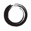Enso Zen Circle Ink Brush Vector Illustration