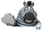 Fototapeta Fototapety na ścianę do pokoju dziecięcego - Fun zebra - 3D Illustration
