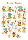 Fototapeta Fototapety na ścianę do pokoju dziecięcego - Vector animals abc with cute cartoon animals and letters.