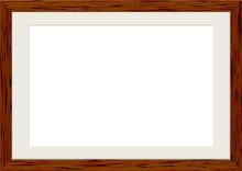 木製の額縁 フレーム ダークブラウン