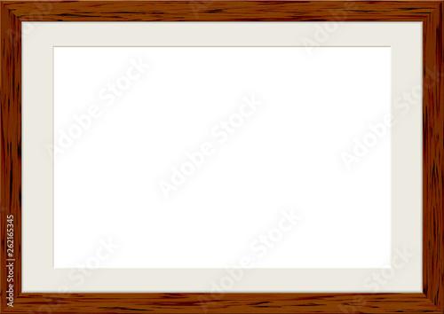木製の額縁 フレーム ダークブラウン Canvas Print