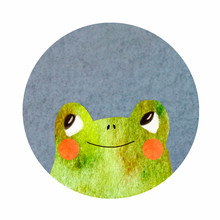 Round Icon With A Frog