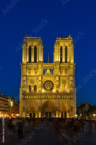 Photo sur Toile Europe Centrale Notre Dame de Paris Cathedral