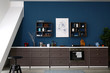 Leinwanddruck Bild - Modern interior of kitchen with stylish furniture