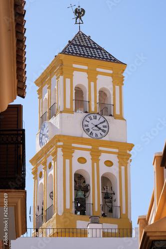 Fotografia, Obraz Marbella old town church bell tower