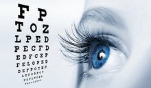 Female Eye With Long Eyelashes...