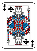 A Playing Card Jack Of Clubs I...