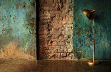 Old Wall With Lamp