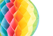 Colorful Paper Ball On White