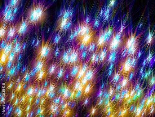 Glowing  stars on a dark ba...