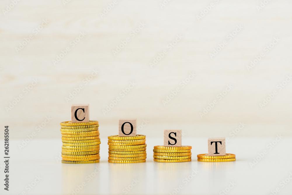 Fototapety, obrazy: コストのアップダウン