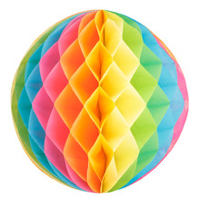 Colorful Honeycomb Round Paper...