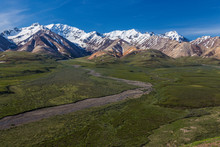 View From Polychrome Overlook In Denali National Park In Alaska, United States