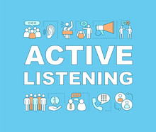 Active Listening Word Concepts Banner